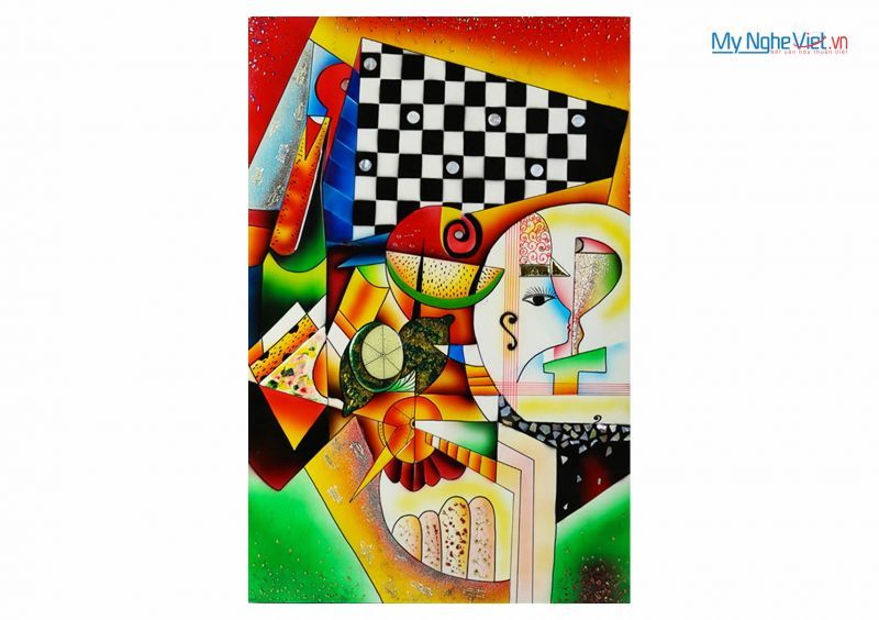 Lacquer Picasso painting MNV-SMA372