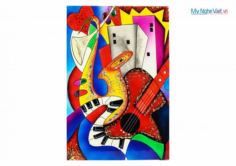 Lacquer Picasso painting  MNV-SMA374